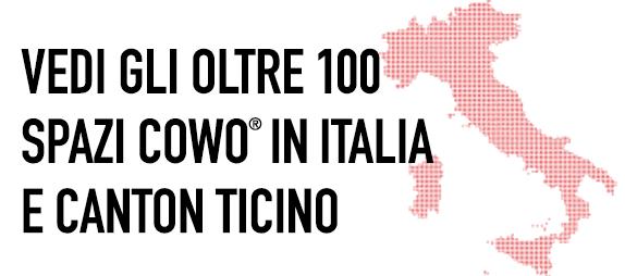 Coworking in Italia e Canton Ticino